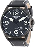 Torgoen Swiss Men's T10105 T10 Stainless-Steel Case Carbon Aviation Watch