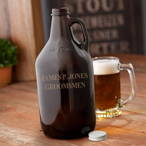 Amber Engraved Beer Growler - Man Cave seegers jesse agenda jds architects