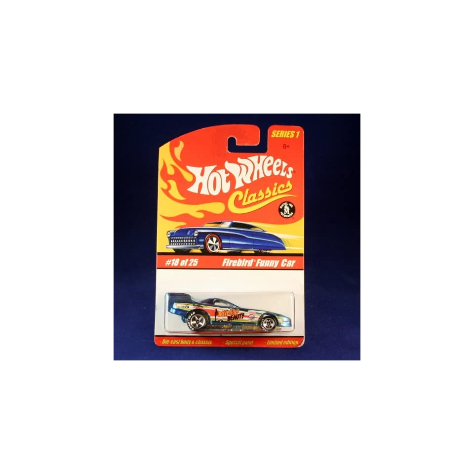 FIREBIRD FUNNY CAR (BLUE) 2004 Hot Wheels Classics 164 Scale SERIES 1 Die Cast Vehicle