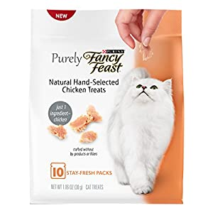 Purina Fancy Feast Purely Natural Hand-Selected Chicken Cat Treats (5 Pack), 1.06 oz
