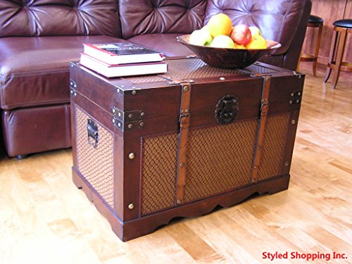 Boston Wood Chest Wooden Steamer Trunk - Large Trunk 0