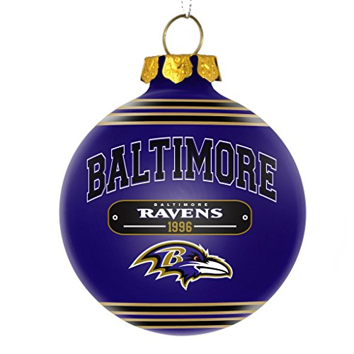 Baltimore Ravens Official NFL 2014 Year Plaque Ball Ornament