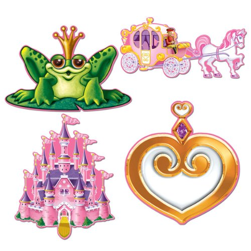 Beistle 54371 4-Pack Princess Cutouts, 12-Inch