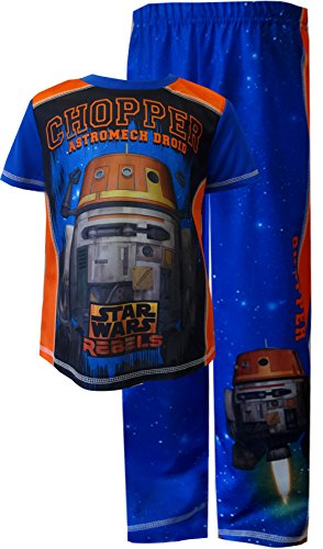 Star Wars Rebels Chopper Astromech Droid Pajamas for Big Boys (8) (Chopper Pajamas compare prices)