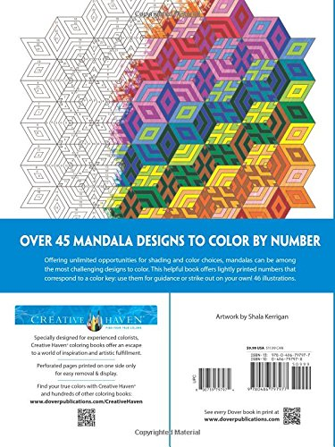 Creative Haven Mandalas Color By Number Coloring Book Adult Coloring 800759797974