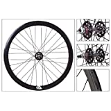 Origin8 Track Attak Wheel Set - 700c, 32H, Fixie, NMSW, All-Black by Origin 8