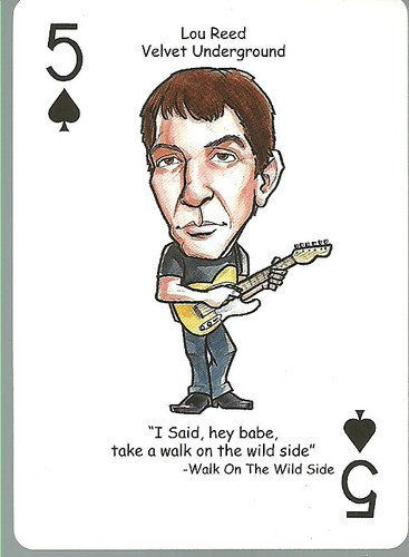 (3) Lou Reed Velvet Underground Rock n Roll - ODDBALL Playing cards