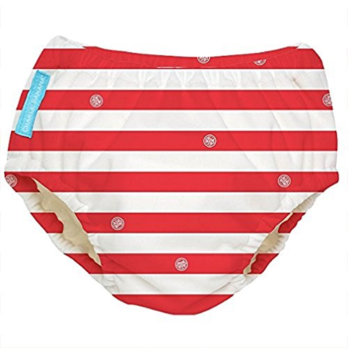 Charlie Banana Extraordinary Best Reusable Swim Diaper (Small, Red Stripes)