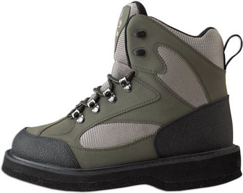 Caddis Men's Northern Guide Lightweight Taupe and Green Ecosmart Grip Sole Wading Shoe, 7