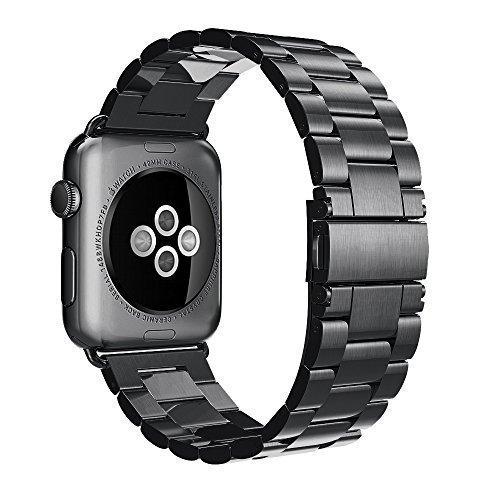 Cinturino Apple Watch,Simpeak® 42mm Apple Watch Band Strap Cinturino Orologio Sostituzione in Acciaio Inossidabile con chiusura pieghevole,Cinghia di Polso,Fibbia di Metallo per Tutti i Modelli Apple Watch 42mm  1  Suppress Seller
