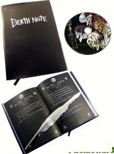 Death Note Cosplay 3 Pcs Notebook & CD & Fur Pen X 03 - 1