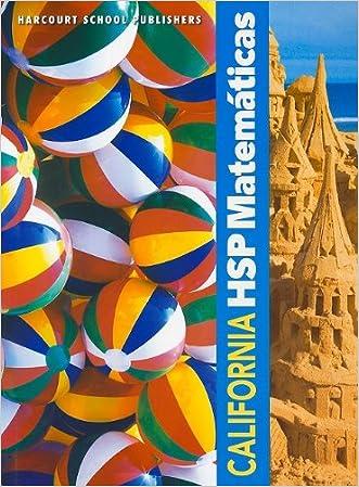 Harcourt School Publishers Spanish Math California: Student Edition Grade K 2009 (Spanish Edition)