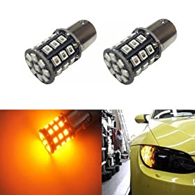 JDM ASTAR Bright AX-2835 Chipsets 1157 2057 2357 7528 LED Bulbs for Turn Signal,Amber Yellow