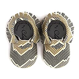Mamba Mia • 100% American leather moccasins for babies & toddlers • Made in US