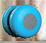Glodeals Waterproof Wireless Bluetooth Shower Speaker & Handsfree speakerphone - Compatible with all Bluetooth Devices, iPhone 5 Siri and All Android devices (Blue)