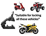 #1 Motorcycle Lock - A Grip / Throttle / Brake / Handlebar Lock to Secure a Bike, Scooter, Moped or ATV in Under 5 Seconds! From BigPantha - Lifetime Guarantee! (Black)