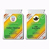 PURE ACAI BERRY PLUS 500Mg and Colon Cleanse Plus -500Mg PUREST FRESHEST 100% Acai Berry and 100% Natural Herbal Colon cleanser suitable for Vegetarians and Vegans. Thousands of satisfied clients a product you can trust.