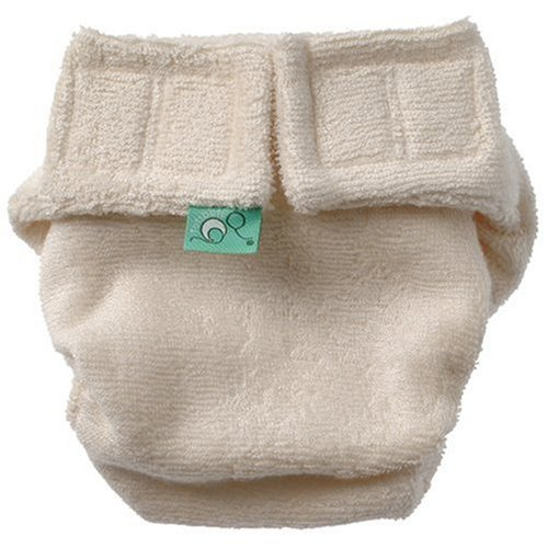 Tots Bots Nappy Starter Pack (Stage 1, Aplix Fastening, Natural Colour, Bamboo Material)