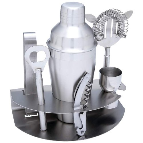 7pc Stainless Steel Cocktail Bar Set