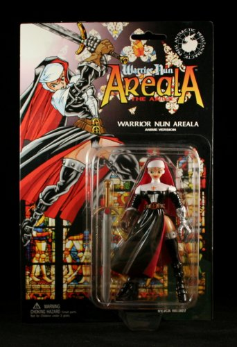 WARRIOR NUN AREALA * ANIME VERSION * 5 Inch Action Figure & Accessories from Ben Dunn's Warrior Nun Areala Comic Series - 1