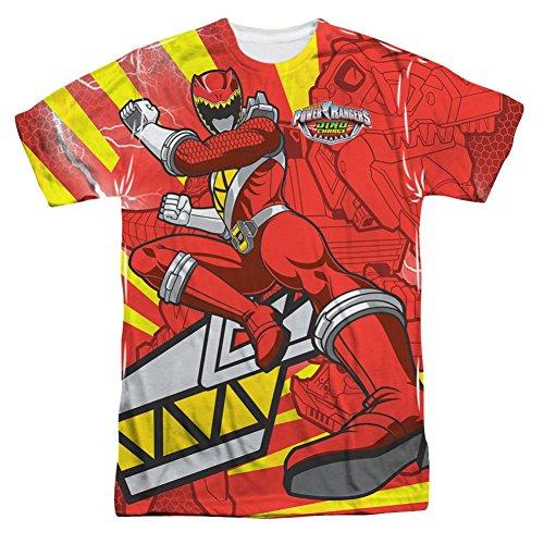 Power Rangers Red Ranger Kick All Over Front T-Shirt