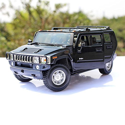 1:18 Maisto 2003 Hummer H2 SUV Black Diecast Model Car Vehicle New in Box (Hummer H2 1 18 compare prices)