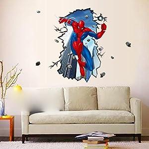 Personalizado de la moda el dormitorio de los niños spider-Man Vivero pegatinas de pared calcomanía Arte mural stickers en BebeHogar.com