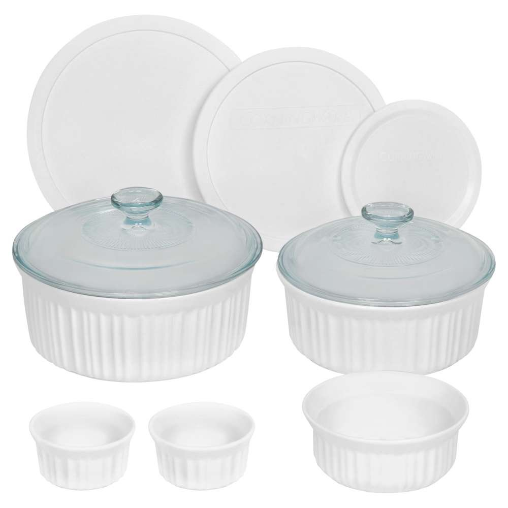 CorningWare 10 Piece Round Bakeware Set, White