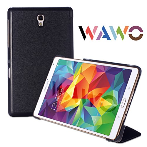 Find Discount WAWO Creative Smart Tri-fold Cover Case for Samsung Galaxy Tab S 8.4-inch Tablet - Bla...