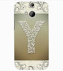 "ColourCraft Alphabet ""Y"" Design Back Case Cover for HTC ONE M8"