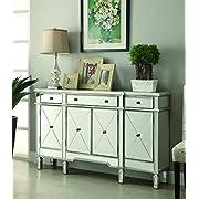 Coaster Home Furnishings 102595 Wine Cabinet Mirror, Silver