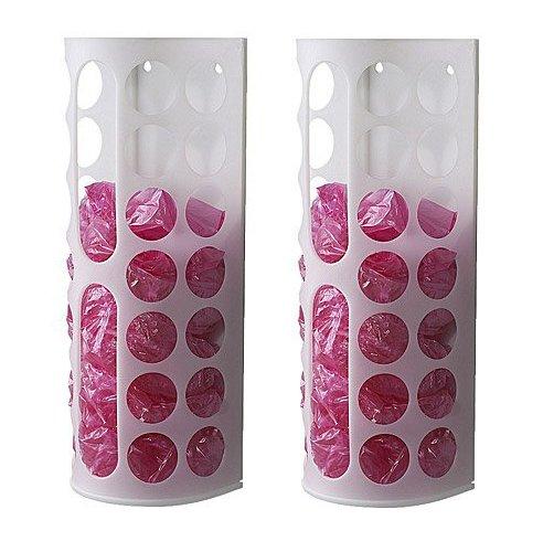 Ikea VARIERA Plastic Bag Dispenser, White (2pc) (Plastic Bag Dispenser Cloth compare prices)