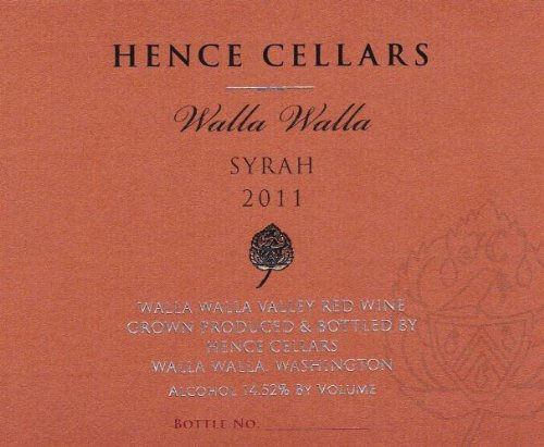 2011 Hence Cellars Syrah 750 Ml