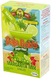 Baja Bob's Sugar Free Margarita Mix, Original, 10-Count Singles (Pack of 12)
