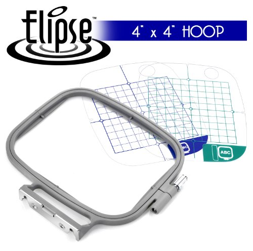 Elipse 4-inch x 4-inch Embroidery Hoop w/ Placement