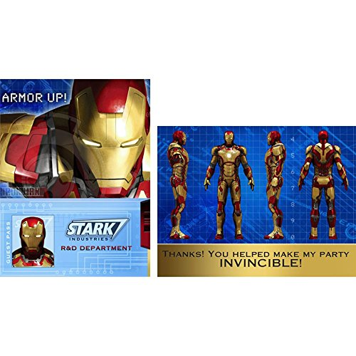 Iron Man 3 Invitations and Thank You Notes w/Envelopes (8ct each)