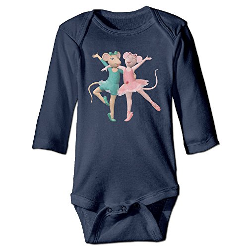 Baby Child 100% Cotton Long Sleeve Onesies Toddler Bodysuit Angelina Ballerina Climbing Clothes Navy Size 6 M (Angelina Ballerina Clothes compare prices)