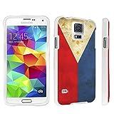 DuroCase ® Samsung Galaxy S5 Hard Case White - (Philippines Flag) by DuroCase