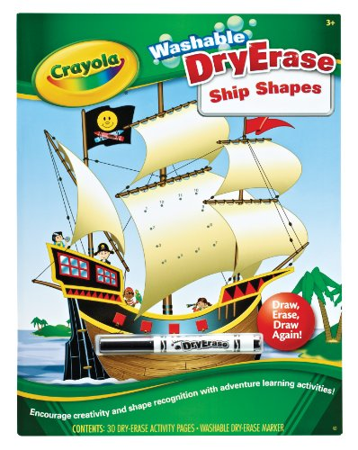 Crayola Dry Erase Books Ship Shapes