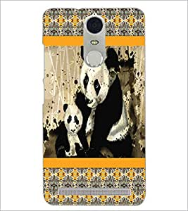 PrintDhaba Pandas D-4227 Back Case Cover for LENOVO K5 NOTE (Multi-Coloured)