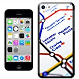 Fancy A Snuggle 'Close Up Tube Map Leicester Square, London' Hard Case Clip On Back Cover for Apple iPhone 5C