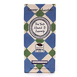 Almond & Rosemary Sea Salt Organic Milk Chocolate Artisan Bar