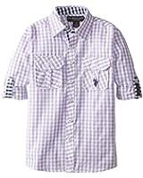 U.S. Polo Assn. Big Boys' Long Sleeve Sport Shirt