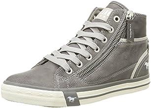 Mustang 1209502, Sneakers Hautes femme, Gris (2 Grau), 36 EU