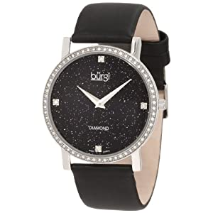 Burgi Women's BUR061SSB Swiss Quartz Diamond Strap Watch