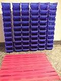 60 Stapelboxen Gr. 2 und 12 Wandschienen
