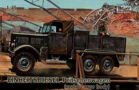 IBG MODELS 1/35 35003 独・アインハイツディーゼル6輪カーゴトラック金属パネル型