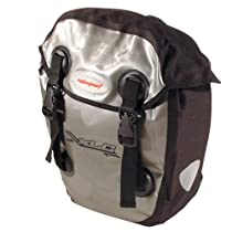 XLC Globetrotter Pannier Bag Set, Black/Silver