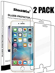 Apple iPhone 6 / 6s Ballistic Screen Protector ShockWize [2 Pack] [Tempered Glass] .3mm Thin Premium Real Glass Screen Protector iPhone 6 / 6s (4.7\