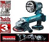 MAKITA BML185 18V Cordless Torch Plus BGA452Z 115mm 18V Cordless Angle Grinder (Bare Unit)